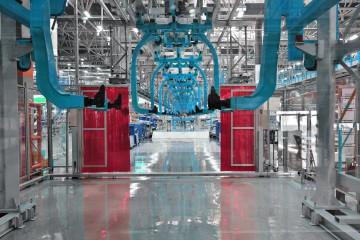 Automobile manufacturing plant.